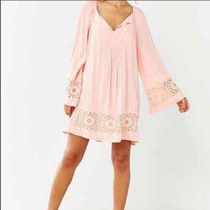Ecote Crotchet Bell Sleeve Frock Dress